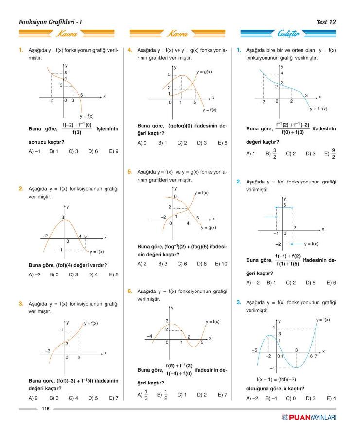 10 Sınıf Matematik 3ü 1 Arada Soru Bankası Puan Yayınları