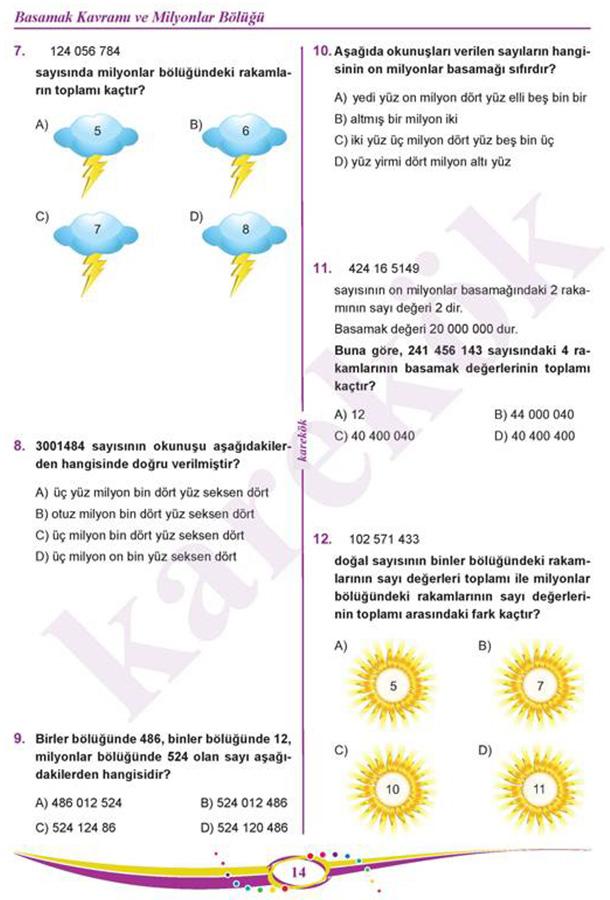 5 Sinif Matematik Soru Bankasi Karekok Yayinlari 9786059433259