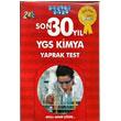 YGS Kimya Son 30 Y�l Yaprak Test Ak�ll� Adam Yay�nlar� 2013
