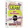 2014 KPSS Lise �n Lisans �ek Kopar Yaprak Test �stikrar Yay�nc�l�k