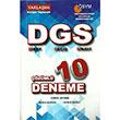 2014 DGS ��z�ml� 10 Deneme Yakla��m Kariyer Yay�nlar�