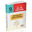 9. S�n�f Orta��retim Dil ve Anlat�m ��retmenin Ders Notlar� Edit�r Yay�nlar�