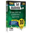 2015 ÖABT Türk Dili ve Edebiyat Öğretmenliği Full Akademik Tamamı Çözümlü 10 Fasikül Deneme Kitapseç Yayınları