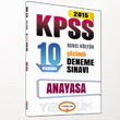 2015 KPSS Vatanda�l�k ��z�ml� 10 Numara Deneme S�nav� Yediiklim Yay�nlar�