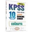 2015 KPSS Co�rafya ��z�ml� 10 Numara Deneme S�nav� Yediiklim Yay�nlar�