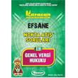 2.S�n�f 3.Yar�y�l Genel Vergi Hukuku Nokta At�� Sorular� Kod: 316 Karacan Yay�nlar�