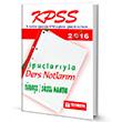 2016 KPSS Türkçe Sözel Mantık İpuçlarıyla Ders Notlarım Teorem Yayınları