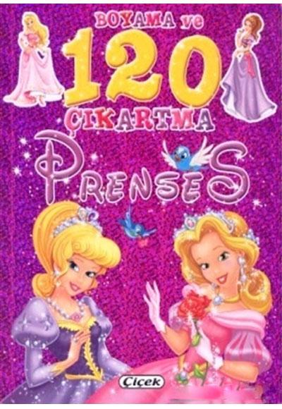 Prenses Boyama Ve 120 çıkarma çiçek Yayıncılık 9786053340584