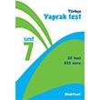 7. Sınıf Türkçe Yaprak Test Tudem Yayıncılık