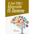 8. Sınıf TEOG 1 Matematik 15 Deneme Ekip Yayınları