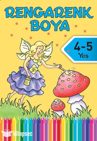Rengarenk Boya 4 5 Yas 7 Kitap Dogan Egmont Yayincilik