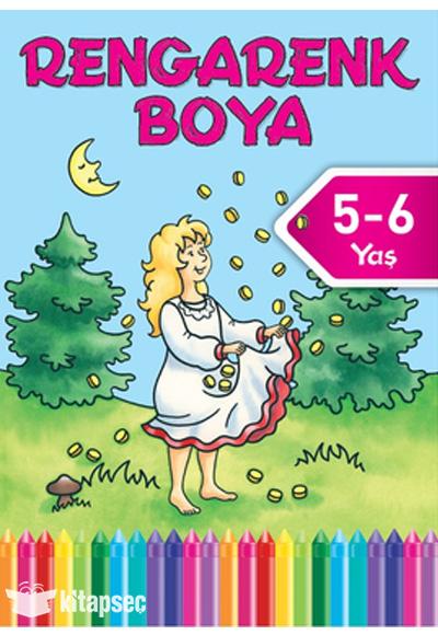Rengarenk Boya 5 6 Yas 8 Kitap Dogan Egmont Yayincilik