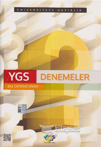 Ygs 6lı Deneme Sınavı Fdd Yayınları 9786053213932
