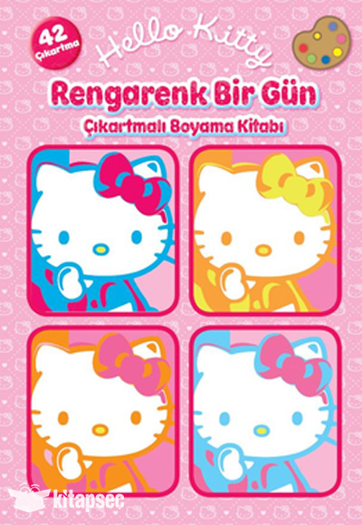 Hello Kitty Rengarenk Bir Gun Cikartmali Boyama Kitabi Dogan