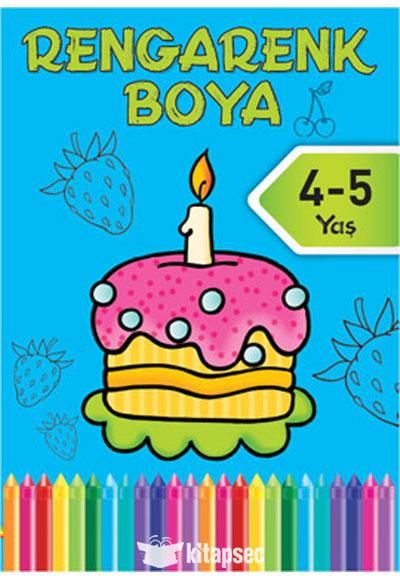 Rengarenk Boya Mavi Kitap 4 5 Yas Dogan Egmont Yayincilik