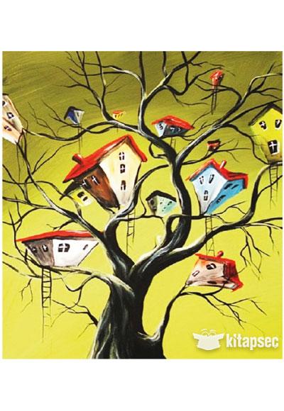 Büyük Desenli Tuval Boyama Ağaç Evler Tb46 35x50 Kum Toys
