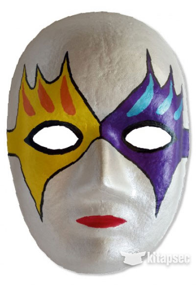 Karton Maske Boyama Seti Kum Toys 8681049052247