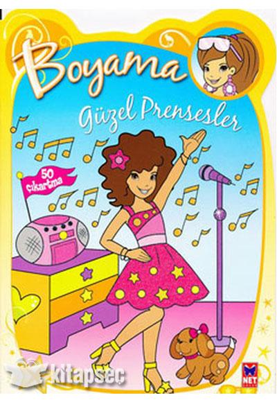 Güzel Prensesler Boyama Kitabı Sarı Net Kitap Yayınları 9786051240299