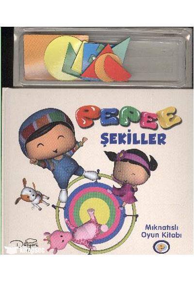Mıknatıslı Oyun Kitabı Pepee şekiller 245001 Keskin Color