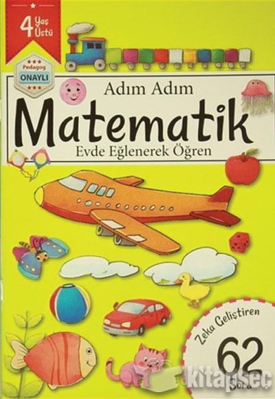 Adim Adim Matematik 4 Yas Zeka Gelistiren 62 Soru Revzen Kitap