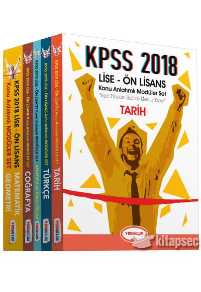 2018 Kpss Lise ön Lisans Konu Anlatımlı Modüler Set Yediiklim