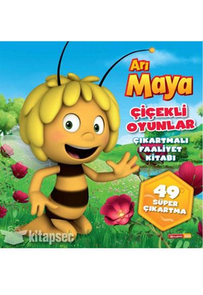 Arı Maya çiçekli Oyunlar çıkartmalı Faaliyet Kitabı Doğan Egmont