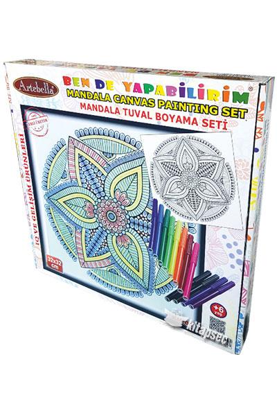 Km 04 Tuval Mandala Boyama Seti 32 32 Cm Artebella 8680256057588