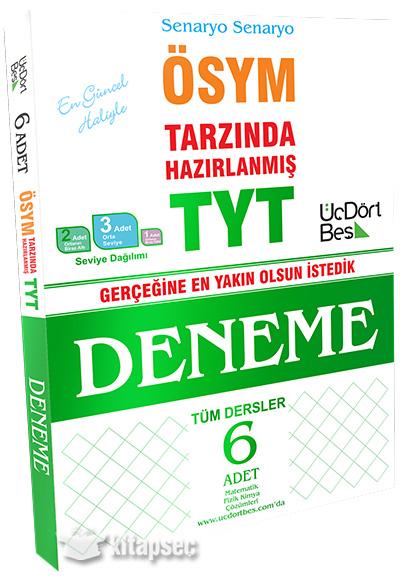 Tyt 6 Deneme üç Dört Beş Yayınları 9786058229969