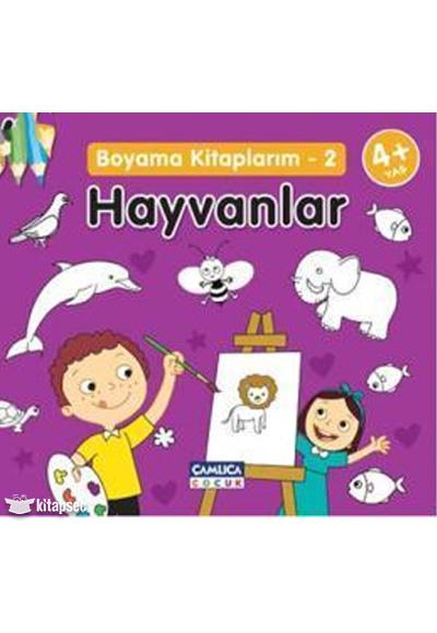 Hayvanlar Boyama Kitaplarım 2 çamlıca çocuk Yayınları 9786054421862