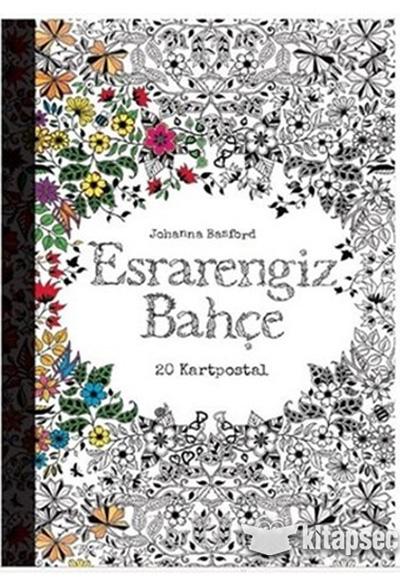 Esrarengiz Bahçe Kartpostal Kitabı Edam Yayınları 9786051690230