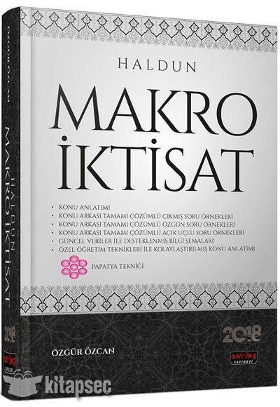 Haldun Makro Iktisat Konu Anlatımlı Savaş Yayınevi 9786059527903