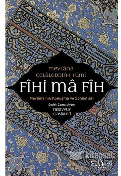 Fihi Ma Fih Mevlana Celaleddin Rumi Sufi Kitap 97860597786959