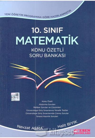 10 Sınıf Matematik Konu özetli Soru Bankası Esen Yayınları