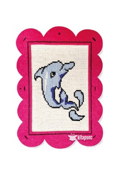 Keçe çerçeveli Etamin Seti Yunus Balığı Kum Toys 86810490507246
