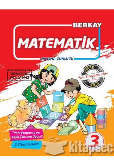 3 Sinif Matematik Calisma Gunlugu Berkay Yayincilik 9786052274163