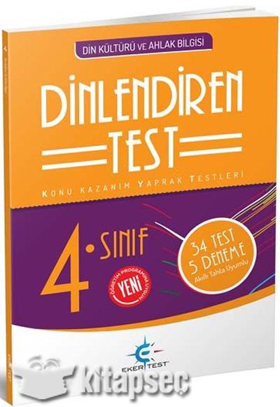 4 Sınıf Din Kültürü Ve Ahlak Bilgisi Dinlendiren Test Eker Test