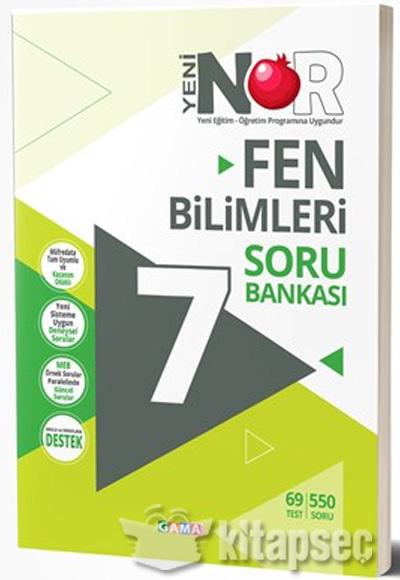 7 Sınıf Nar Fen Bilimleri Soru Bankası Gama Yayınları 9786059522656