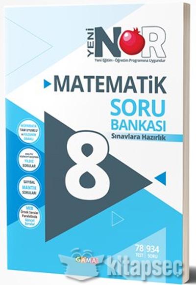 8 Sınıf Nar Matematik Soru Bankası Gama Yayınları 9786059522236