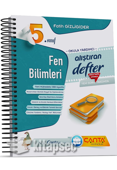 5 Sınıf Fen Bilimleri Alıştıran Defter çanta Yayınları 9786052304907