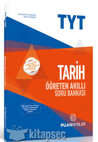 Tyt Tarih öğreten Akıllı Soru Bankası Puan Yayınları 9786052252987