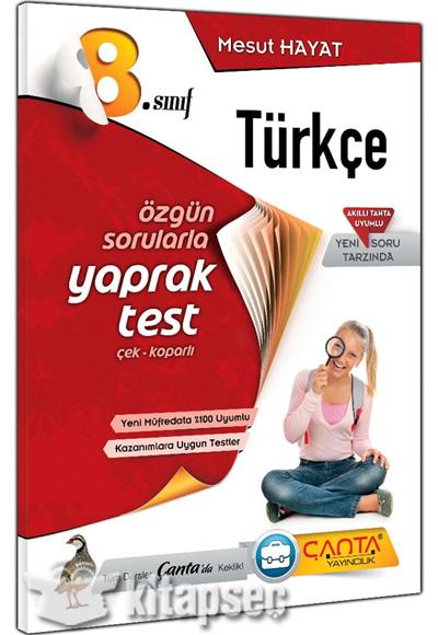 8 Sınıf Türkçe Yaprak Test çanta Yayınları 9786057953063