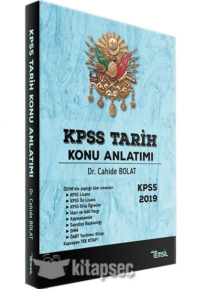 2019 Kpss Tarih Konu Anlatımı Temsil Yayınları 9786056885846
