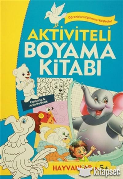 Aktiviteli Boyama Kitabi 5 Yas Hayvanlar Mavi Kitap Koloni Cocuk