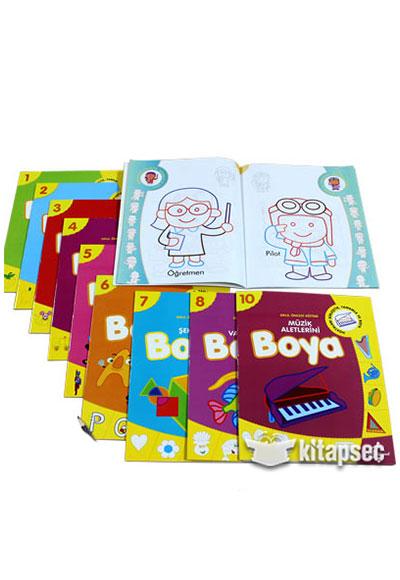 Okul Oncesi Boyamali Alistirma 10 Kitap Takim Cocuk Gezegeni