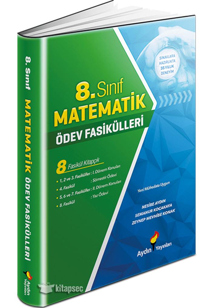 8 Sinif Matematik Odev Fasikulleri Aydin Yayinlari 9786057945501