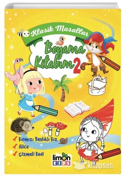 Klasik Masallar Boyama Kitabim 2 Limonkids 9786057671295