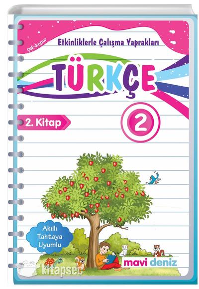 2 Sinif Turkce Etkinliklerle Calisma Yapraklari 2 Kitap Mavi