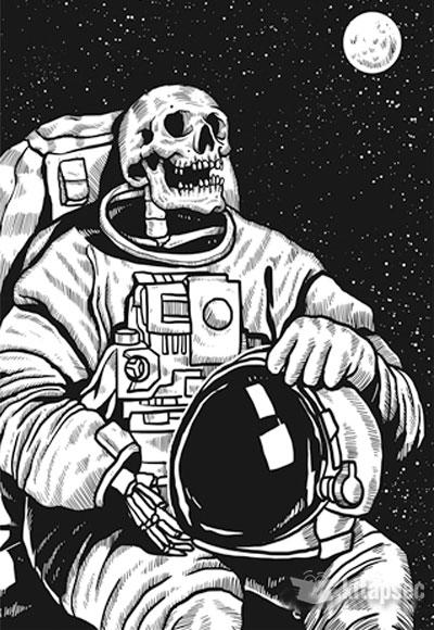 Astronot Kurukafa Melisa Poster 1011111110289