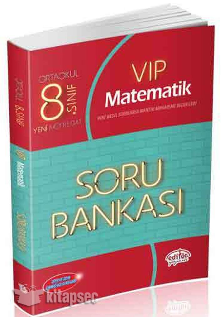 8 Sinif Vip Matematik Soru Bankasi Editor Yayinevi 9786052800492