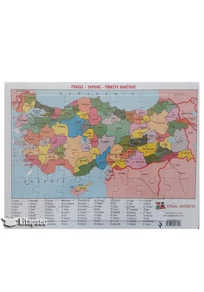 Yapboz Turkiye Haritasi Uysal Yayinevi 9789752623316